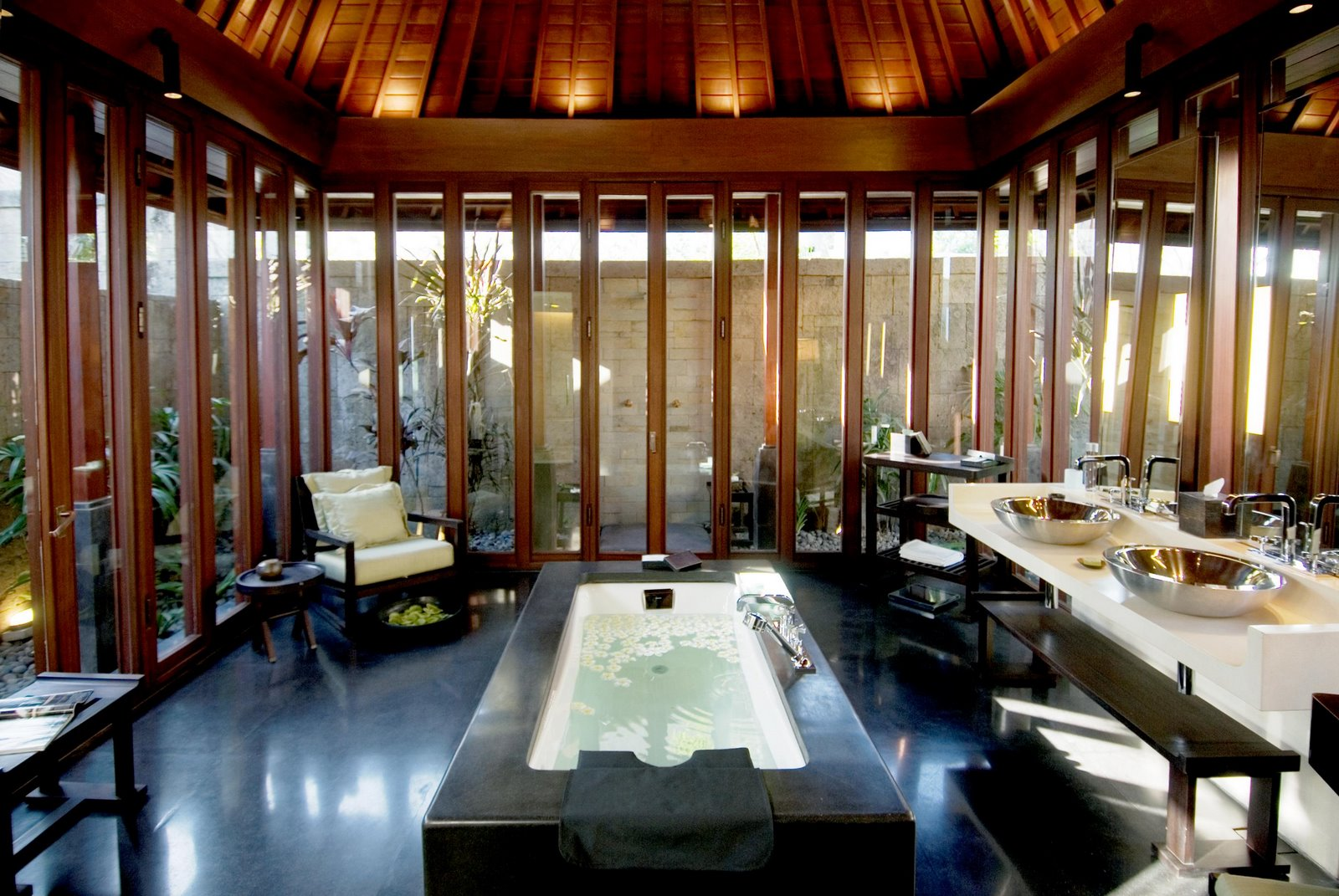 Bathroom Traditional Balinese Style With The Contemporary Italian Design