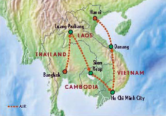 Map Of Indochina Cambodia Laosland Vietnam With Luxury Style