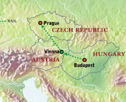 Eastern Europe Austria Czech Republic Hungary With Luxury - Czech republic map
