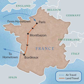 Bordeaux Map Of France.France Loire Valley And Bordeaux With Luxury Style 8 Days Maps