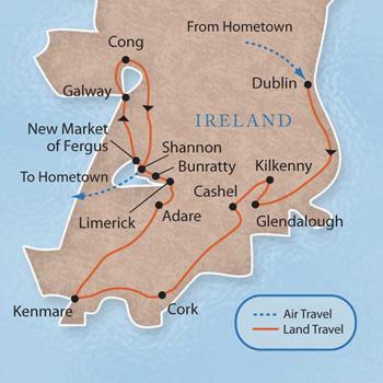 Ireland With Luxury Amp Style 9 Days Maps Luxury