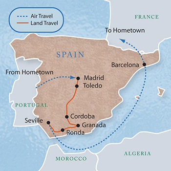 Spain with Luxury Style 11 Days Maps Luxury Style DavidTravel