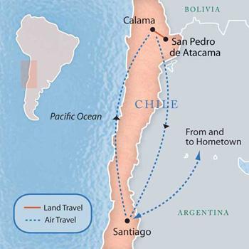 atacama desert on a map Atacama Desert Chile With Luxury Style 6 Days Maps Luxury atacama desert on a map